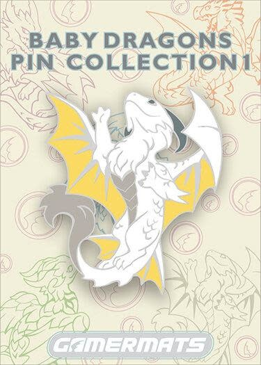 "2"" Pin - Baby White Dragon"