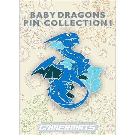 """2"""" Enamel Pin - Baby Blue Dragon"""