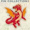 """2"""" Enamel Pin - Baby Red Dragon"""