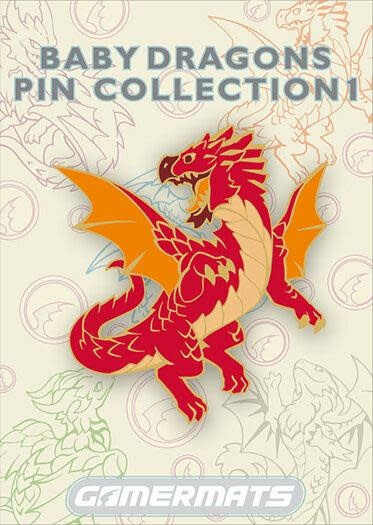 "2"" Pin - Baby Red Dragon"
