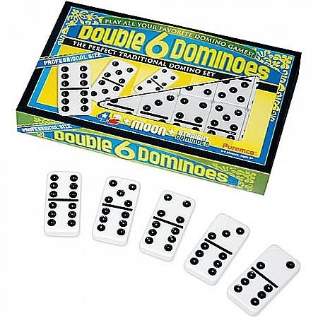 Dominoes - Double 6 'Black Dot'