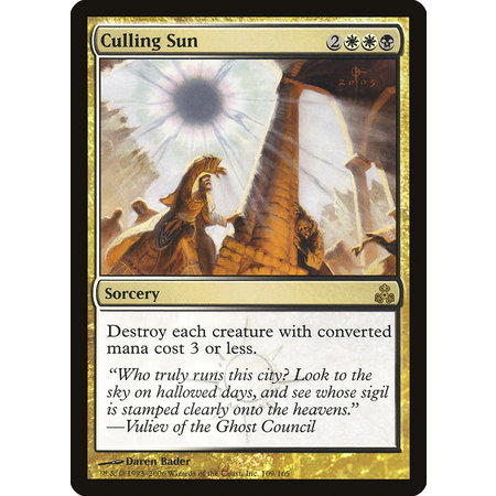 Culling Sun - Foil