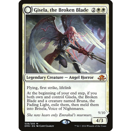 Gisela, the Broken Blade // Brisela, Voice of Nightmares