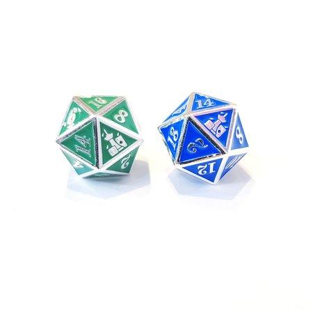Rain City Games Metal D20 - Blue