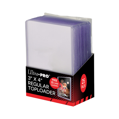 """Ultra Pro - 3"""" x 4"""" Regular Toploader and Sleeve Combo Pack 25 ct."""