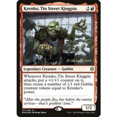 Krenko, Tin Street Kingpin - Foil - Prerelease Promo