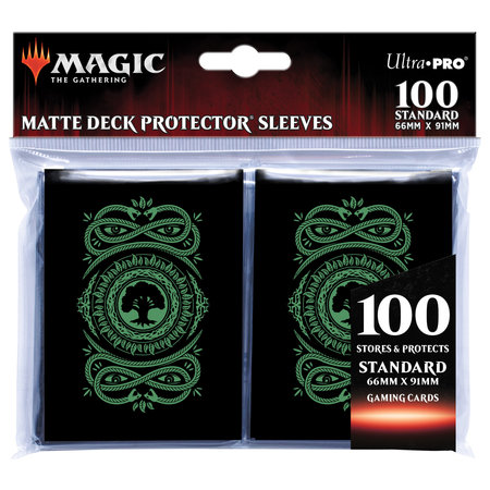 Deck Protector Sleeves - MTG Mana Forest 100+