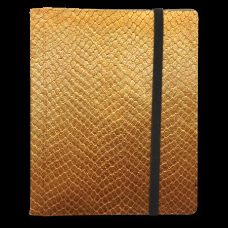 Dragon Hide 4-Pocket Binder - Gold