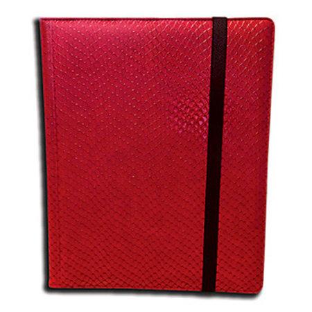 Dragon Hide 9-Pocket Binder - Red