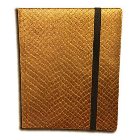 Dragon Hide 9-Pocket Binder - Gold