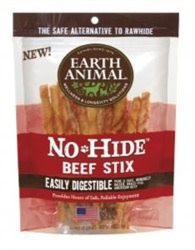 Earth Animal No-Hide Beef Stix, 10 pack