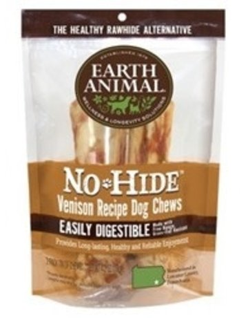 "Earth Animal No-Hide Venison Chews, 7"" 2-pack"