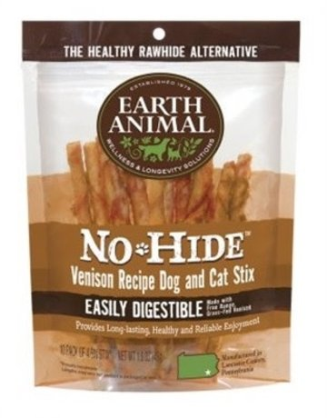 Earth Animal No-Hide Venison Stix, 10 pack
