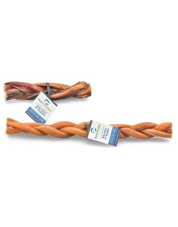 "Barkworthies Bully Stick 12"" Braided"