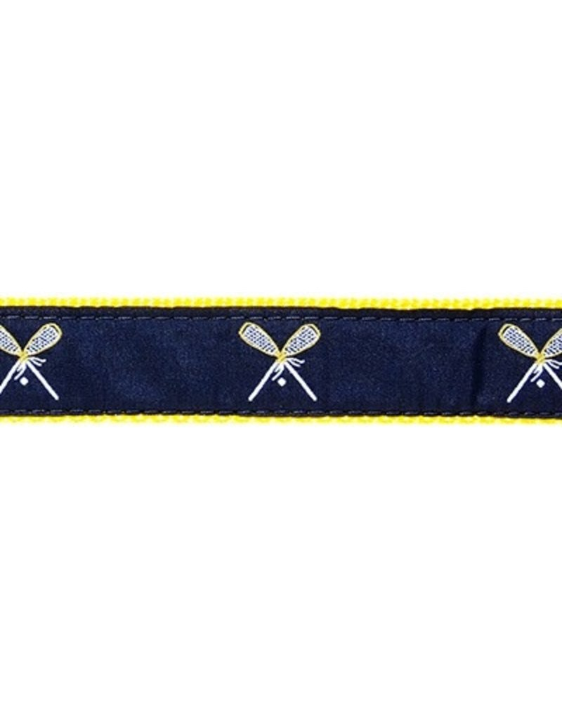 Preston Ribbons Lacrosse - navy on yellow