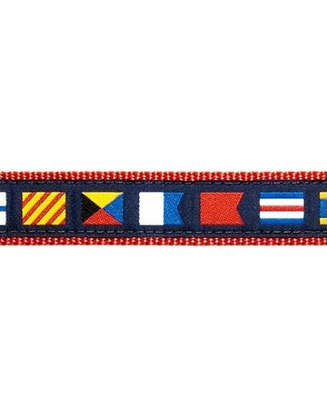 Preston Ribbons Nautical Flags Navy Blue