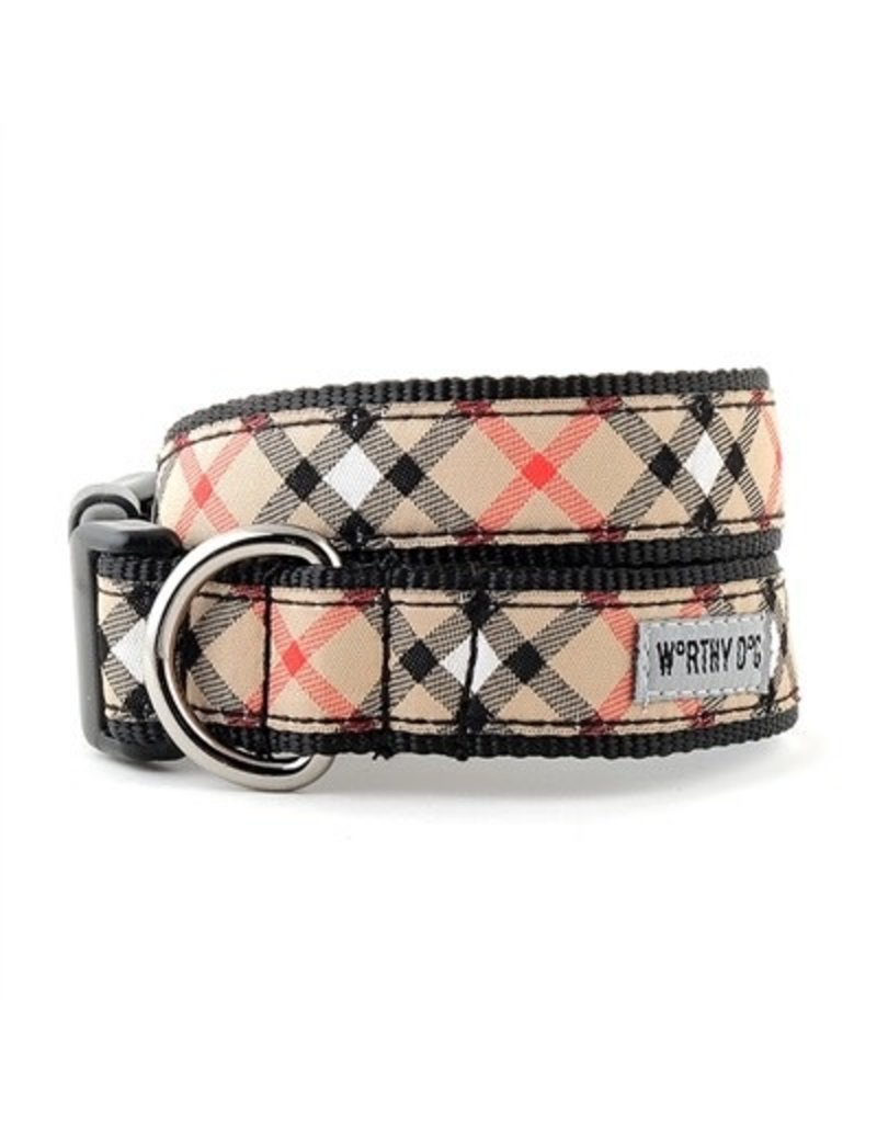 The Worthy Dog Bias Plaid - tan