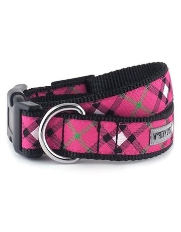 The Worthy Dog Bias Plaid - Hot Pink