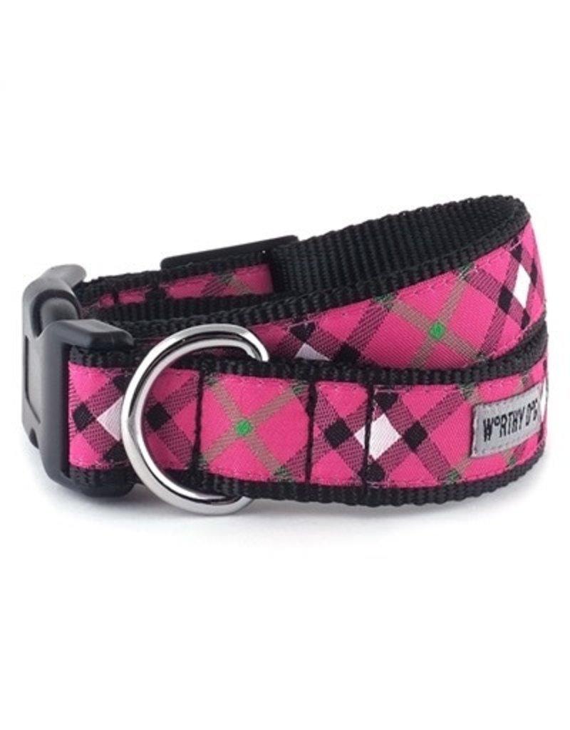 The Worthy Dog Bias Plaid - Hot Pink