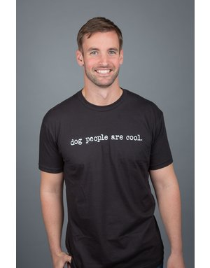 Dog People are Cool Dog People Are Cool short-sleeved black t-shirt