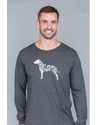 Dog People are Cool Dog People Are Cool long-sleeved charcoal t-shirt