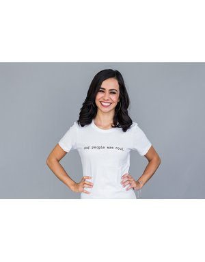 Dog People are Cool Women's T - Dog People Are Cool white typewriter