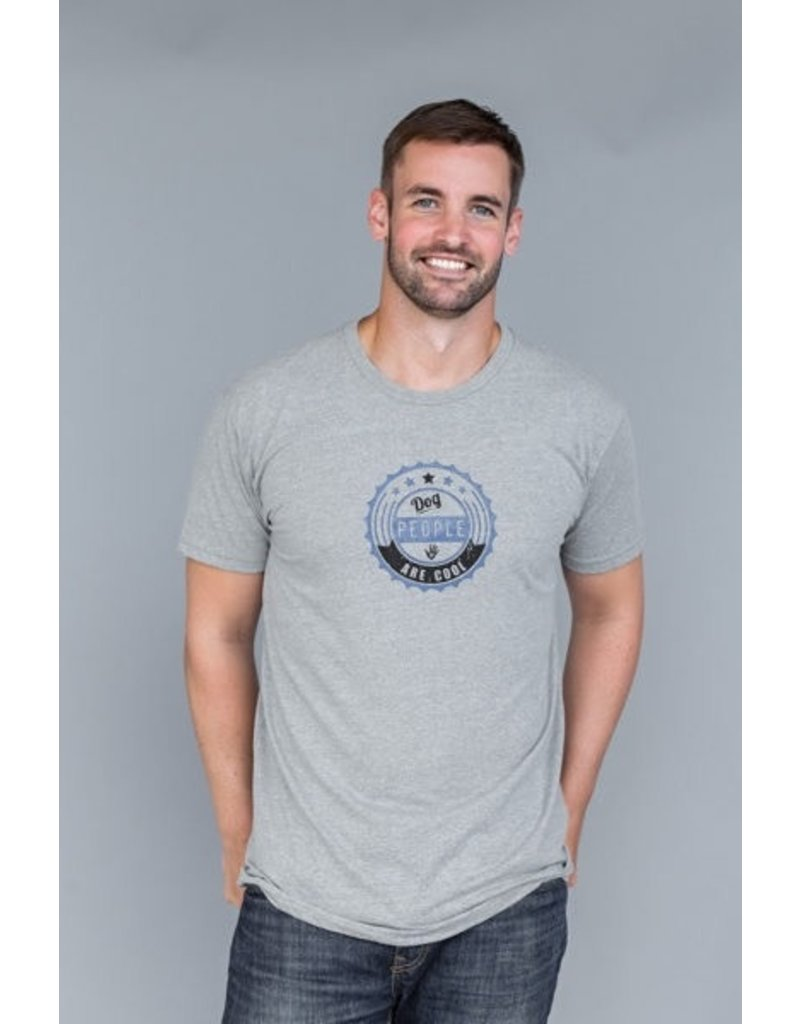 Dog People are Cool Dog People are Cool grey Badge t-shirt