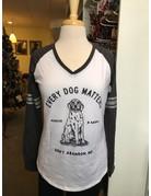 I Love Dogs Women's T - Every Dog Matters varsity t-shirt