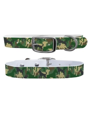 C4 Belts Green Dog Camo collar