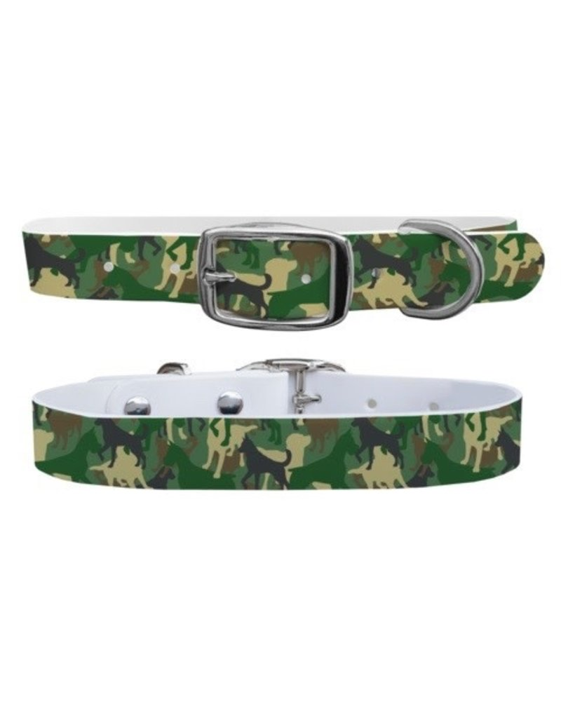 C4 Belts C4 Green Dog Camo collar
