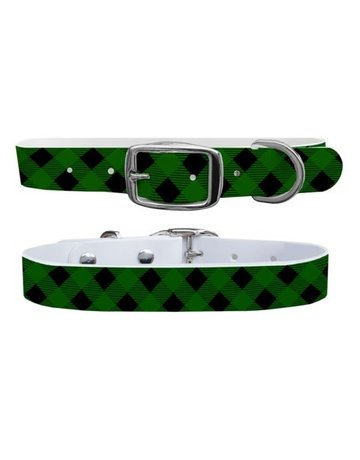 C4 Belts Lumberjack Forest Green collar