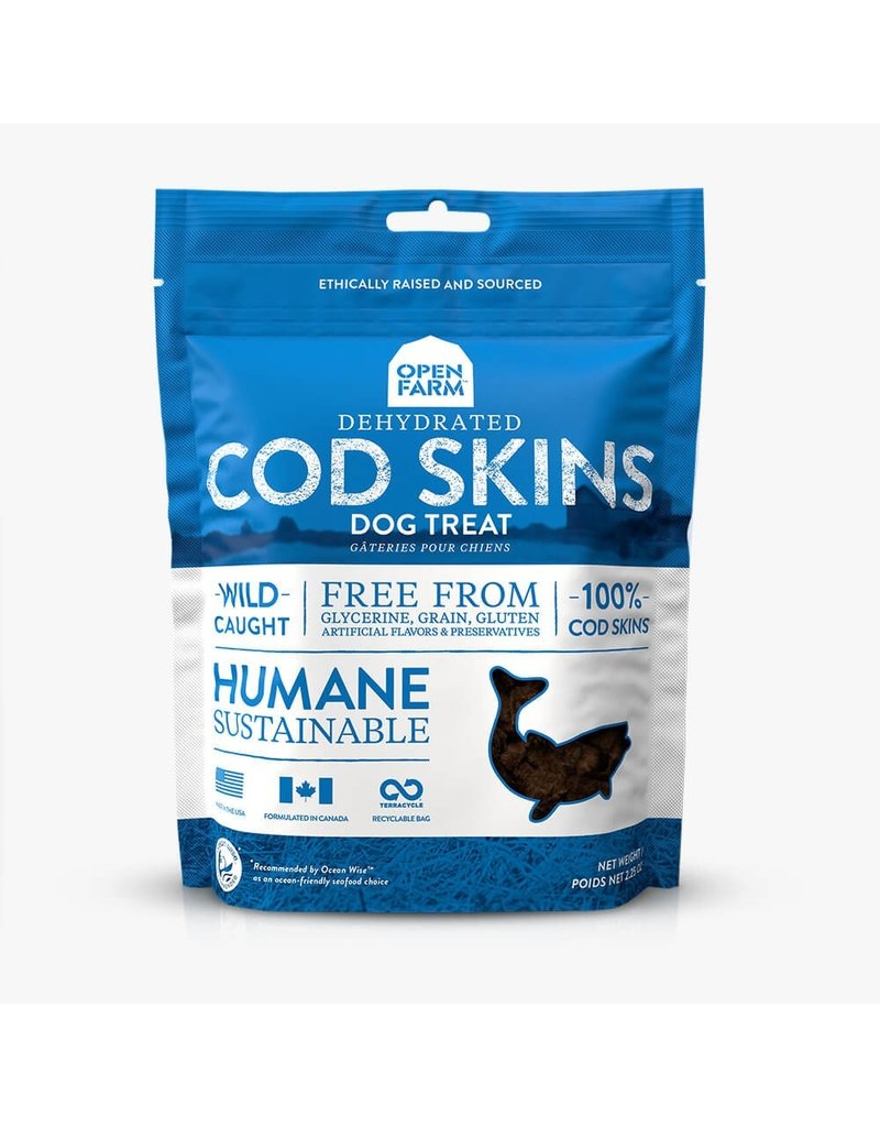 Open Farm Open Farm Cod Skin dehydrated treats 2.25oz