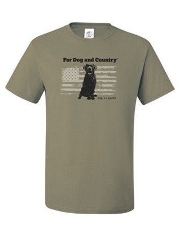 Dog is Good For Dog & Country unisex t-shirt