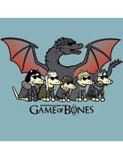 Teddy the Dog Game of Bones ice blue unisex t-shirt