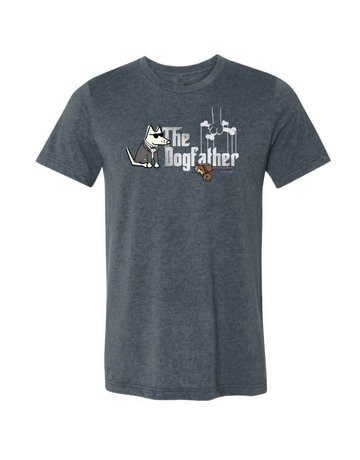 Teddy the Dog The Dogfather heather navy unisex t-shirt