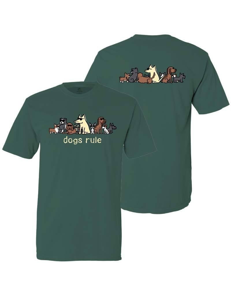 Teddy the Dog Dogs Rule emerald t-shirt