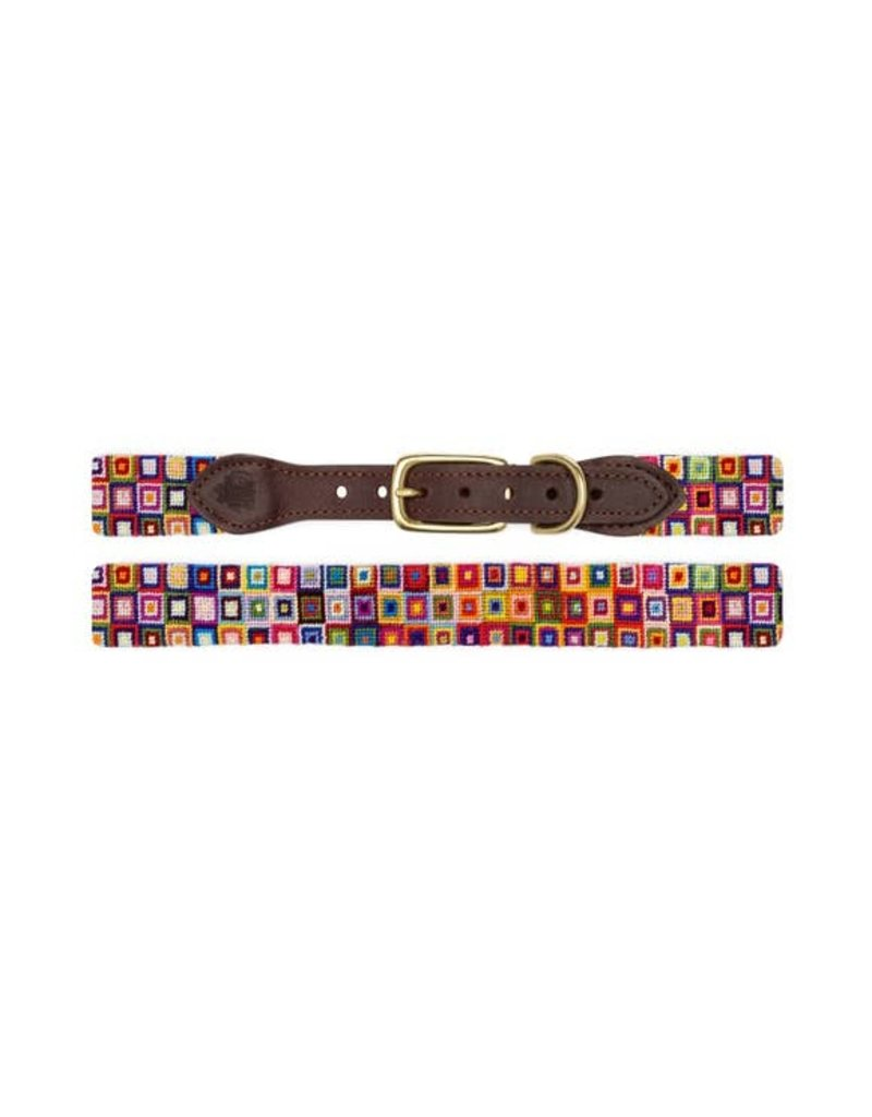 Goodthreads Multi-Colored Squares Needlepoint Collar