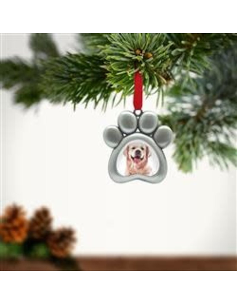Pearhead Paw Photo Ornament