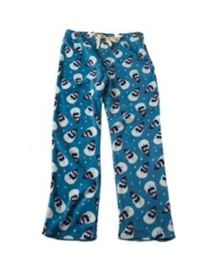 PetRegeous Snowman Fleece PJ Bottoms