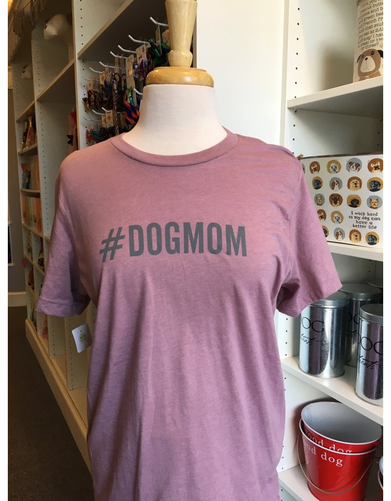 Womens #DOGMOM t-shirt - orchid