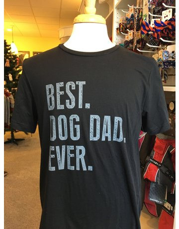 Best Dog Dad short sleeved t-shirt - black