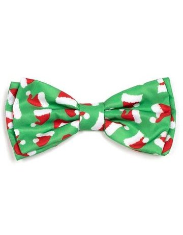 The Worthy Dog Santa Hat bow tie