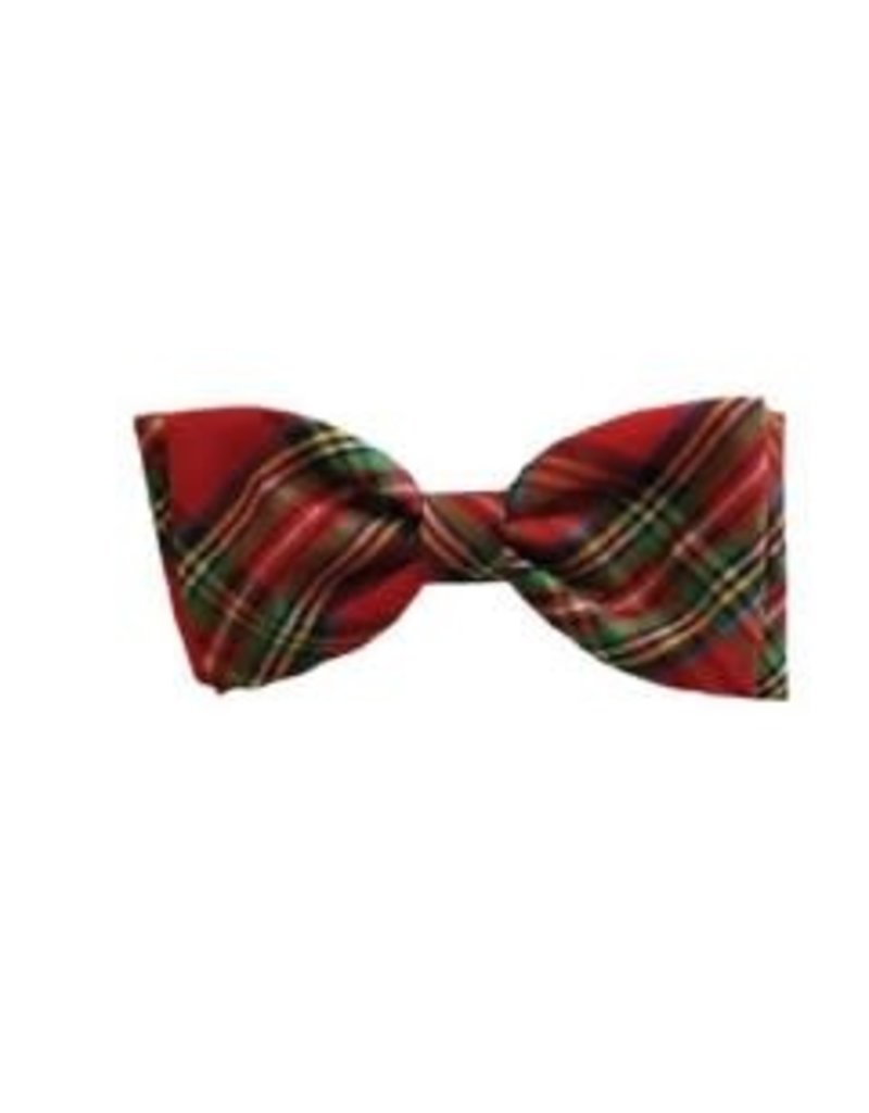 Huxley & Kent Red Plaid Lurex Ties & Pinwheels