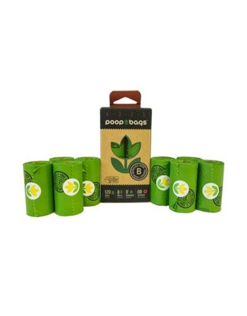 PoopBags.com Poop Bags 120 - orange scent (8 rolls)