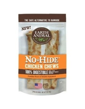 "Earth Animal No-Hide Chicken Chew 4"" 2 Pack"