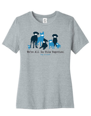 Dog is Good Women's We're All In This Together t-shirt - charcoal grey
