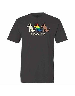 Teddy the Dog Choose Love t-shirt - pepper