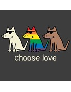 Teddy the Dog Choose Love t-shirt - pepper