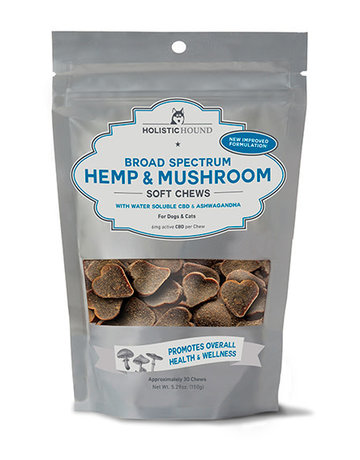 Holistic Hound Broad Spectrum Hemp & Mushroom Soft Chews 6mg, 5.29oz