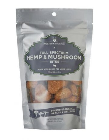 Holistic Hound Full Spectrum Hemp & Mushroom Lamb Bites 7.5mg